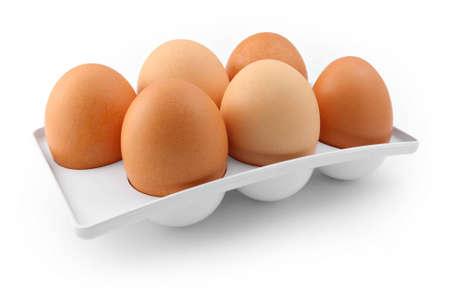 sixpack: Six-pack of eggs