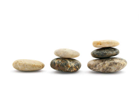 steps to success: Stairs of stones representing growth, isolated on white