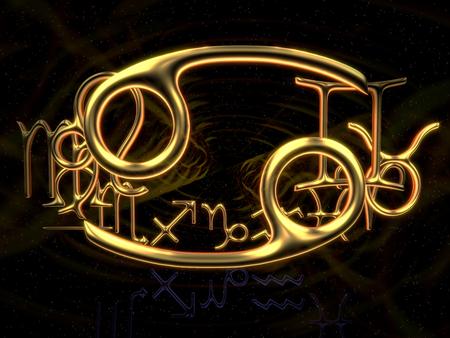 Sign of the zodiac - Cancer, 3d illustration 版權商用圖片