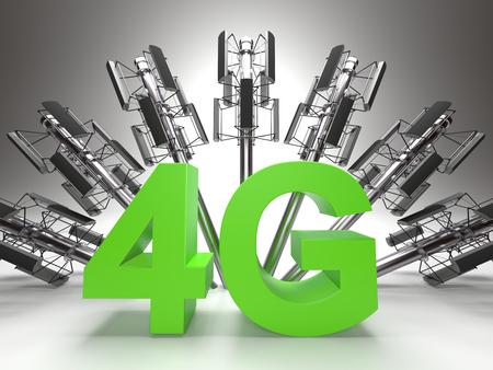 4G - propagation concept Фото со стока