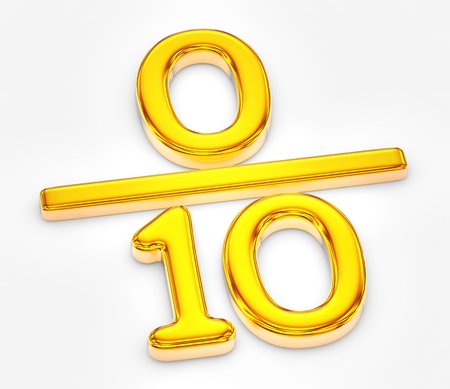 Golden score of zero out of ten illustration Banque d'images - 106086301