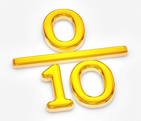 Golden score of zero out of ten illustration Stock Photo