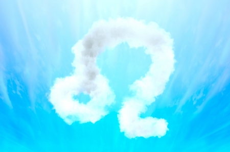 Astrology symbol in cloud material - Leo