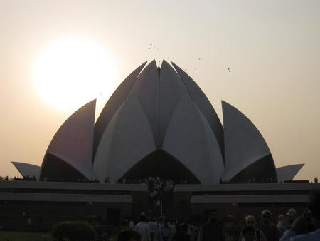 unedited: Lotus temple, Delhi.. Stock Photo