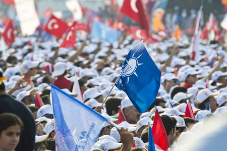 recep tayyip erdogan: Istanbul, TURKEY - June 16, 2013: President Recep Tayyip Erdogan addressed millions at Respect to National Will rally in Kazlicesme-Istanbul.