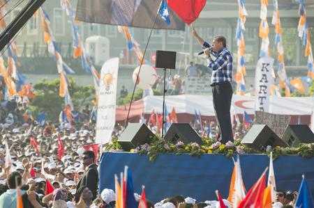"""addressed: Istanbul, TURCHIA - 16 giugno 2013: il presidente Recep Tayyip Erdogan indirizzata milioni a """"Respect per nazionali"""" raduno in Kazlicesme-Istanbul. Editoriali"""