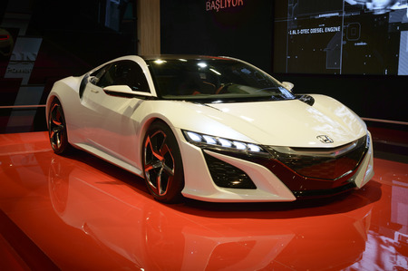autoshow: ISTANBUL, TURKEY - MAY 26, 2015: Honda NSX Concept Car in Istanbul Autoshow 2015