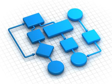 Flowing Chart , computer generated image. Standard-Bild