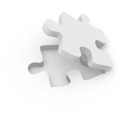 Puzzle Piece, 3D-gerenderde afbeelding. Stockfoto
