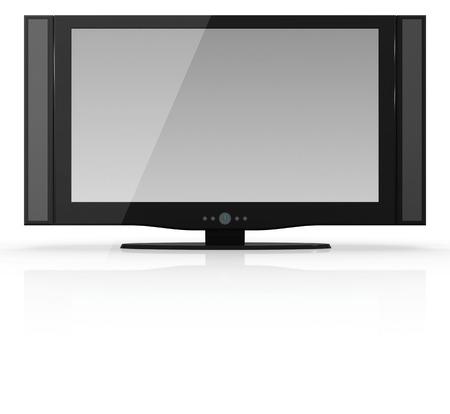 flat screen: Flat screen television , blank screen.