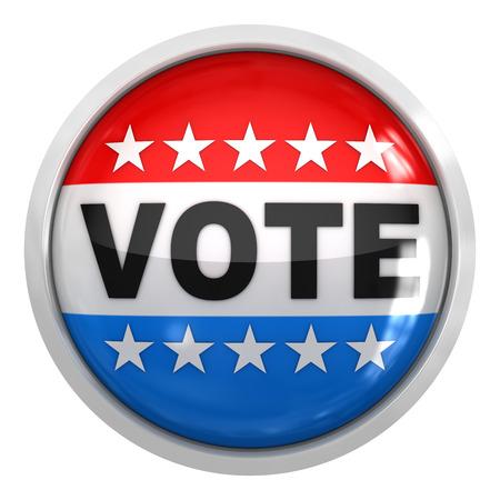 vote button: Vote button , isolated on white.