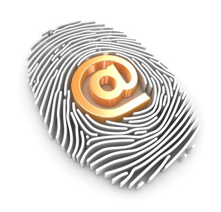 finger proof: Internet concept