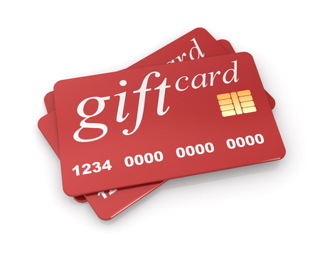 Gift Card, isolated on white.