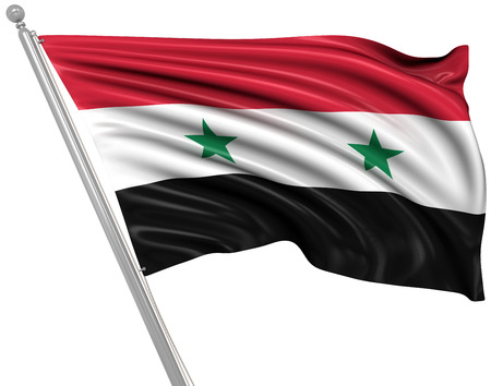 syria: Flag of Syria , 3d rendered image.