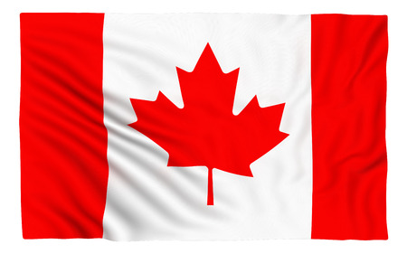canadian flag: Canadian Flag , isolated on white. Stock Photo