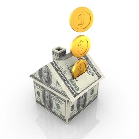 signo pesos: Imagen Casa del dinero, generado por ordenador. Foto de archivo