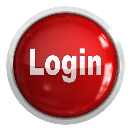 login button: Login Button , isolated on white. Stock Photo