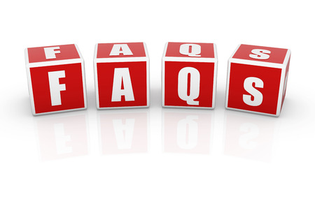 faq's: Faqs Cube , 3d rendered image. Stock Photo