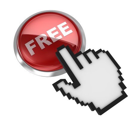 free button: Free button with hand cursor