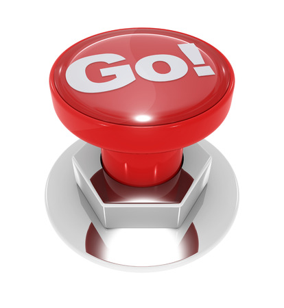 go button: Go button , isolated on white.