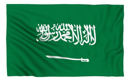 saudi arabia: Flag of Saudi Arabia. rendered image. Stock Photo