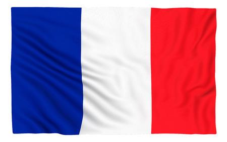 france: Flag of France , isolated on white. Stock Photo