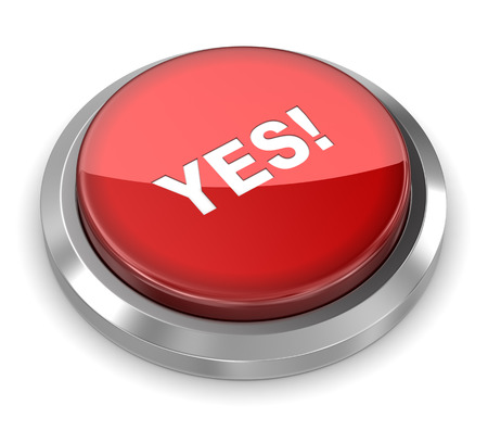 push button: Push Button - Yes Stock Photo