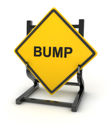 bump: Road sign - bump , 3d rendered image.
