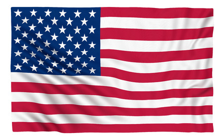 flags usa: Flag of the USA , isolated on white.