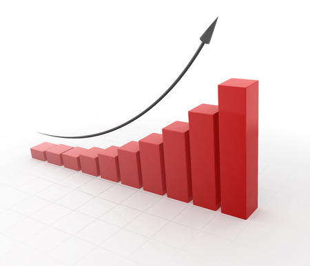 economic forecast: Business Chart , 3d rendered image.