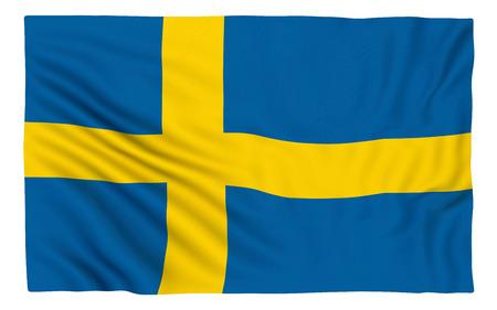 sweden: Flag of Sweden , isolated on white.