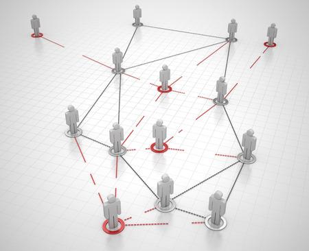 organized group: 3d render Stock Photo