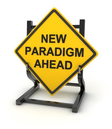 道路標識の新しいパラダイム、3 d レンダリングされた画像。
