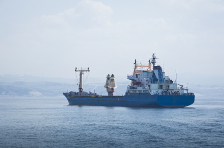 industry moody: Cargo Ship at Sea