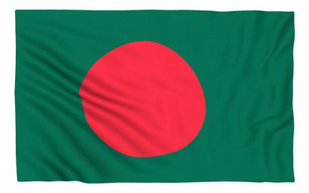 national flag bangladesh: Flag of Bangladesh , isolated on white.