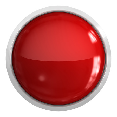 round button: Push button - blank , 3d rendered image.