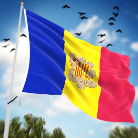 andorra: Flag of Andorra , computer generated image.
