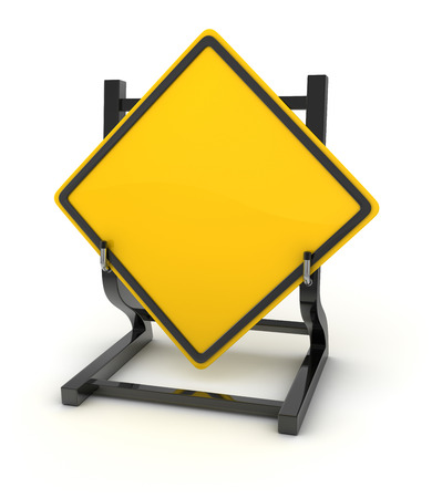 sign blank: Road sign - blank , 3d rendered image.