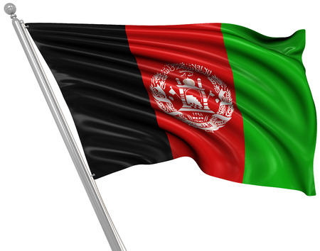 afghan flag: Flag of Afghanistan , This is a computer generated and 3d rendered picture.