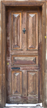 view of a wooden doorway: Old Door