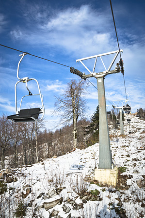 chair on the lift: Chair Lift Stock Photo