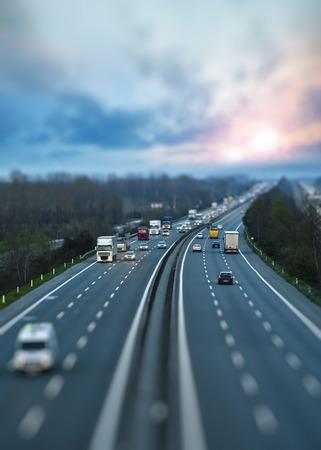 Motorway Traffic Foto de archivo