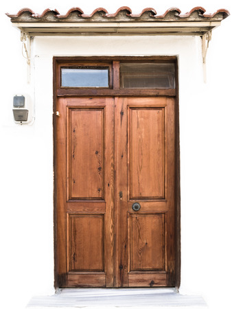 view of a wooden doorway: Old Wooden Door