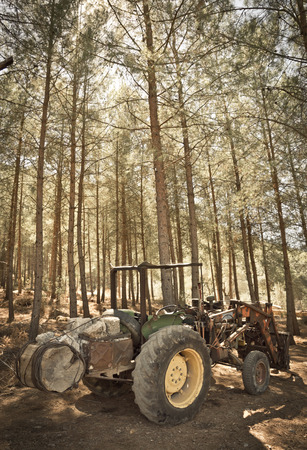 toned image: The Tractor. Toned Image.