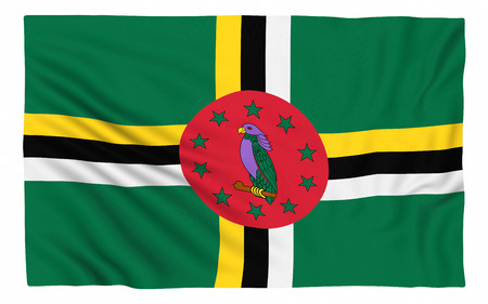 dominica: Flag of Dominica, isolated on white.
