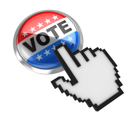 vote button: Vote button , This is a computer generated and 3d rendered picture.