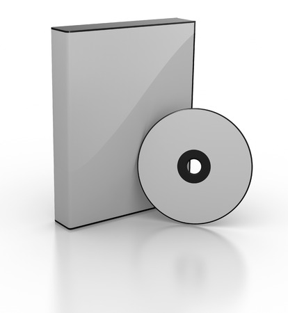 dvd box: Blank DVD box. This is a computer generated and 3d rendered picture.