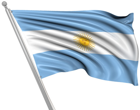 rippled: Flag of Argentina. This is a computer generated and 3d rendered picture.