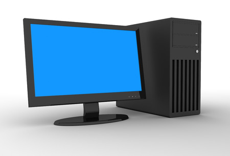 desktop computer: Desktop PC , This is a computer generated and 3d rendered picture.