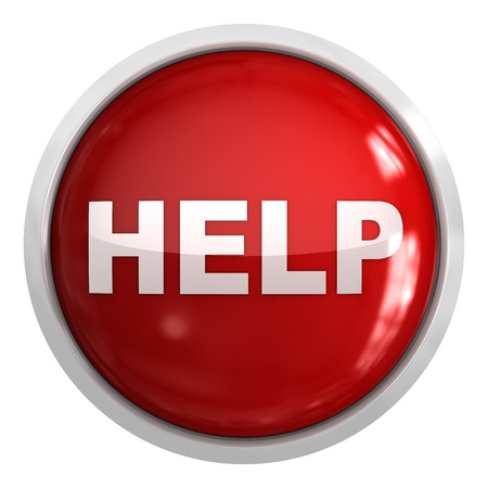 help button: Help button , This is a computer generated and 3d rendered picture. Stock Photo